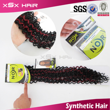 Wholesale japanese synthetic hair weave water wave look natural for black women