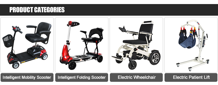 China Multifunctional 24 V 12 Ah Single Seat 4 Wheels Elderly Mobility Scooter