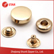 Garment Snap On Button Cover Snap Press Brass Metal Button