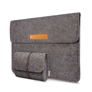 Felt Laptop Sleeve Case Bag with Elastic Band for 13 inch MacBook Air Pro Retina