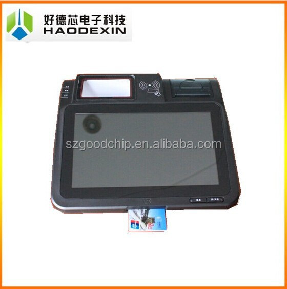 "Support Android System 10.1"" touch POS terminal with receipt thermal printer 3G NFC RFID MSR PSAM smart card reader GC039B"