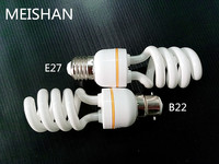mixed power 9w small half spiral e27 energy saving lights