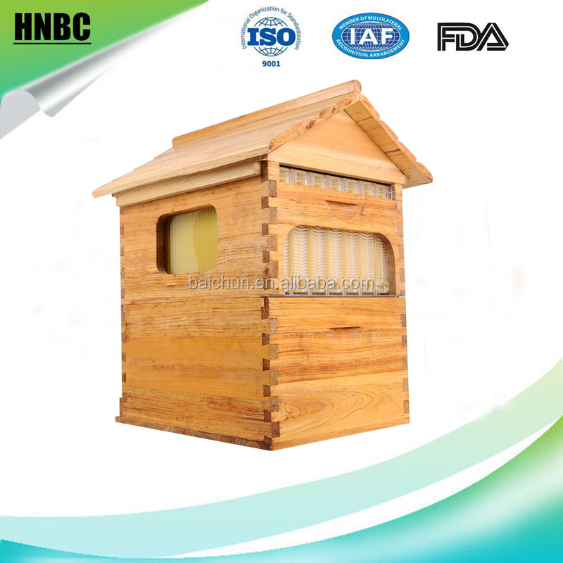 Honey automatic flow bee hive/7 pieces plastic honey flow frames/Langstroth bee hive