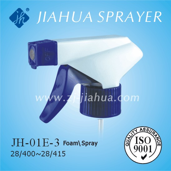 Plastic cleaning foam sprayer, foam trigger sprayer, JH-01E-3, for car and kitchen cleaning