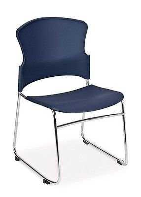 Multi-Use Blue Color Stackable Medical Office Side Chair - Clinic Guest Seating
