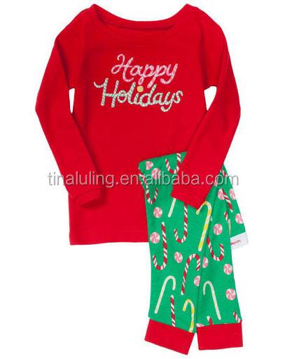 New ! Kids Christmas Pajamas Girls Cute Cartoon Pjs Plus Size ...