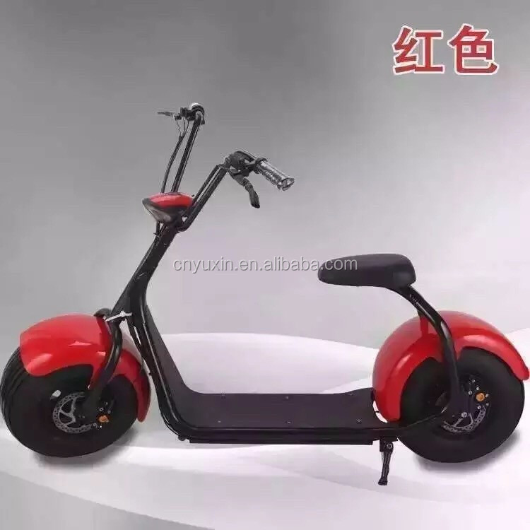 2016 top sale Big Size 2 Wheel Self Balance electric scooter 1000w 60v Citycoco scooter