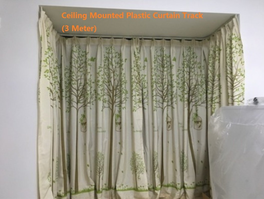 Get Quotations Strong Bendable Plastic Curtain Track 3 Meters Straight Curved Ceiling