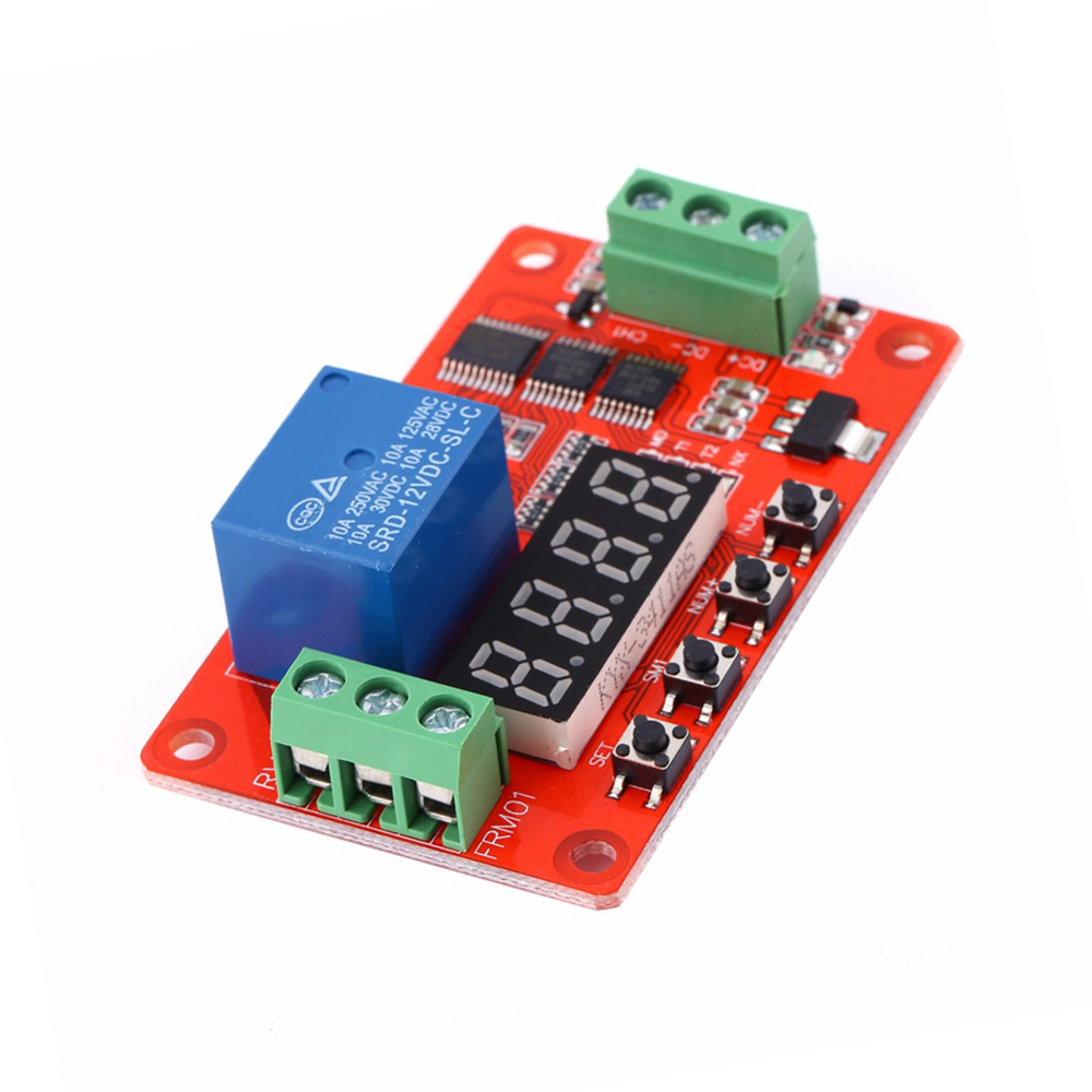 Newer Version 12V DC Multifunction Self-lock Relay PLC Cycle Delay Time Timer Switch Module Home Automation Delay Module Board