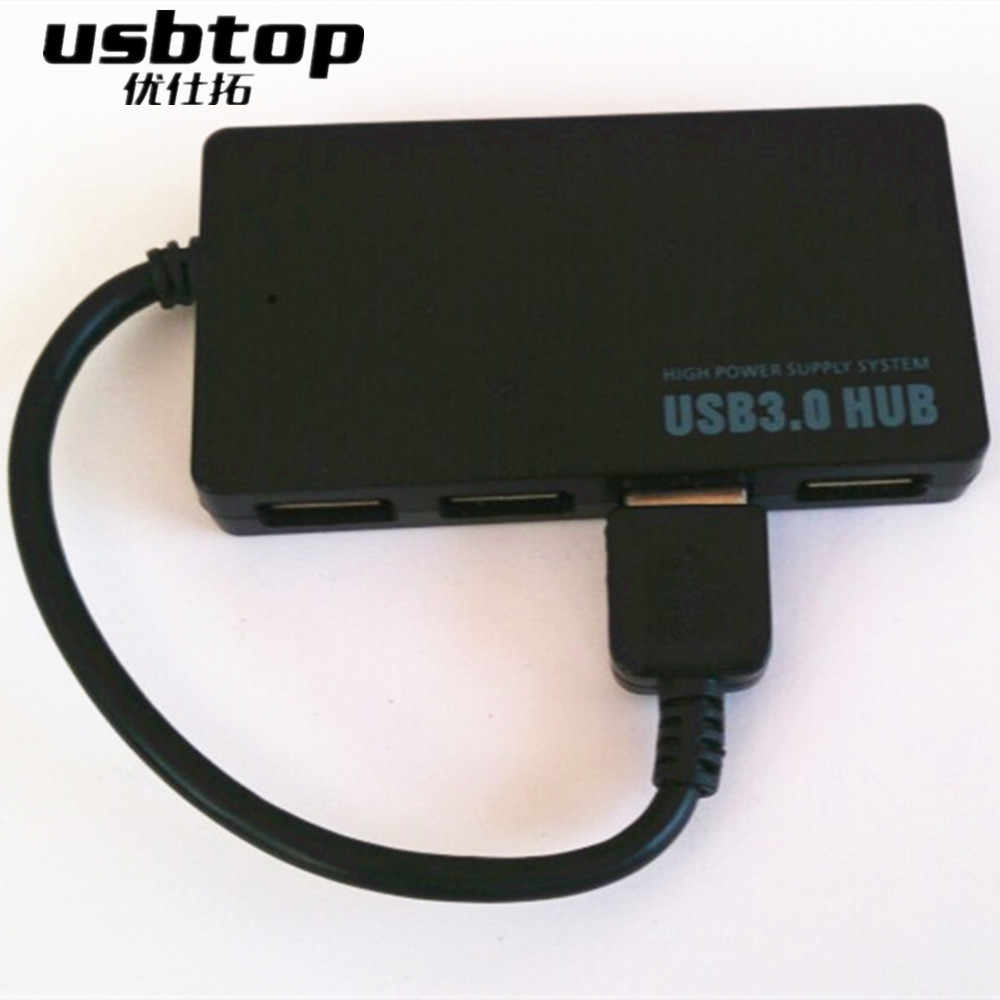 Portable 4 Ports USB Hub High Speed Splitter Adapter For PC Laptop Notebook New