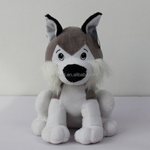 cute elf white wolf and bear plush toy