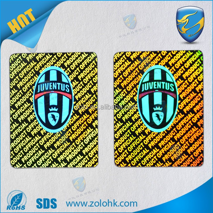 Secure Genuine Hologram Label Custom 3d Holographic Sticker