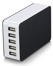 KC certified DC 5V 6.5A cell phone charger 1.2m kr plug multi port cell phone charging station