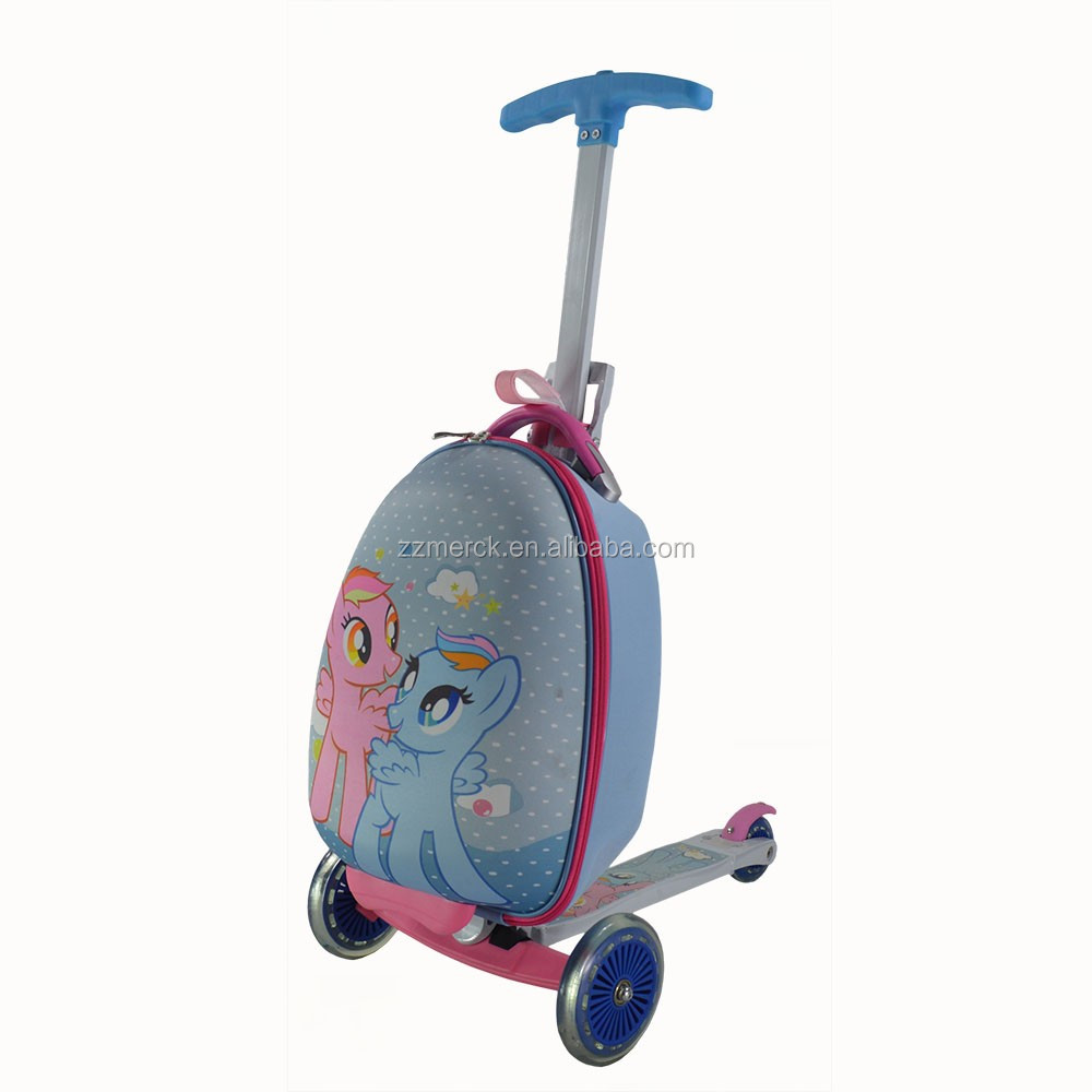 Kids Ride On Luggage With Decorative Stickers