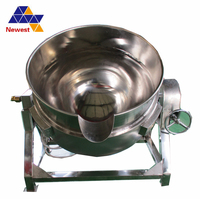Low price stainless steel pot 50L Industrial Electric Cooking Steam Jacket Ball Pot/ Layer Steamer Kettle
