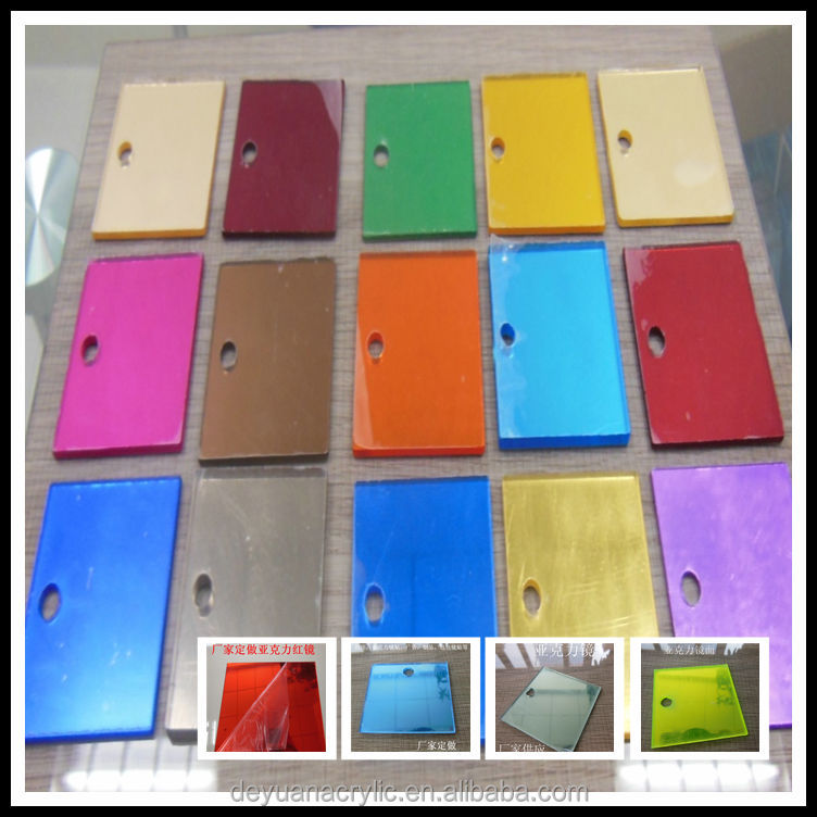 High Quality Acrylic Bathroom Mirror Color Sheet Reflective