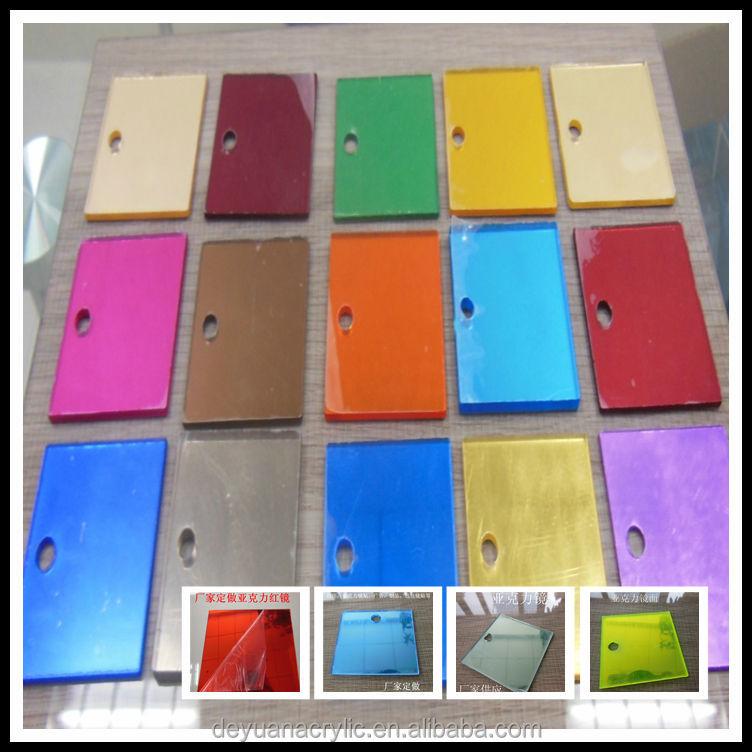 High Quality Acrylic Bathroom Mirror, Color Mirror Acrylic Sheet,  Reflective Acrylic Mirror
