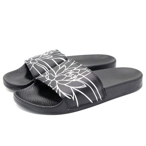Top Quality China Factory Fashion Slides Custom Men Pu Sandals Slippers