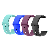 High Quality Multiple Colors Smart Watch Silicone Rubber Watch Band Wrist Strap For Apple Watch 44mm,42mm