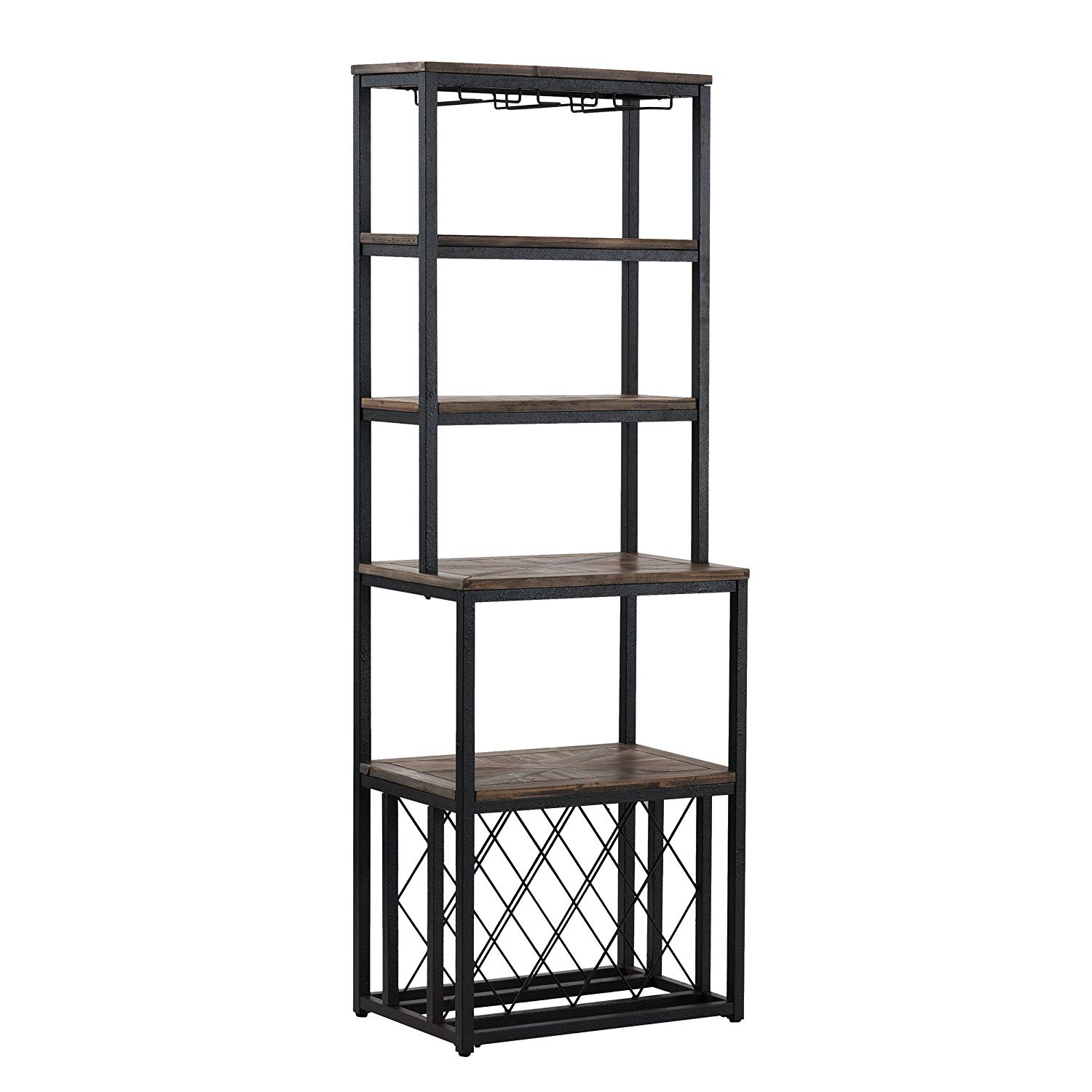 035771004281d Home   Kitchen Furniture HotSpot Industrial Bakers Rack with Wine Storage