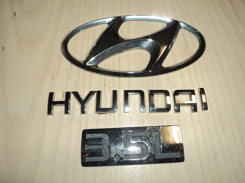 2003 Hyundai Santa FE 3.5L Rear Chrome OEM used Emblem Logo Sign set of 3