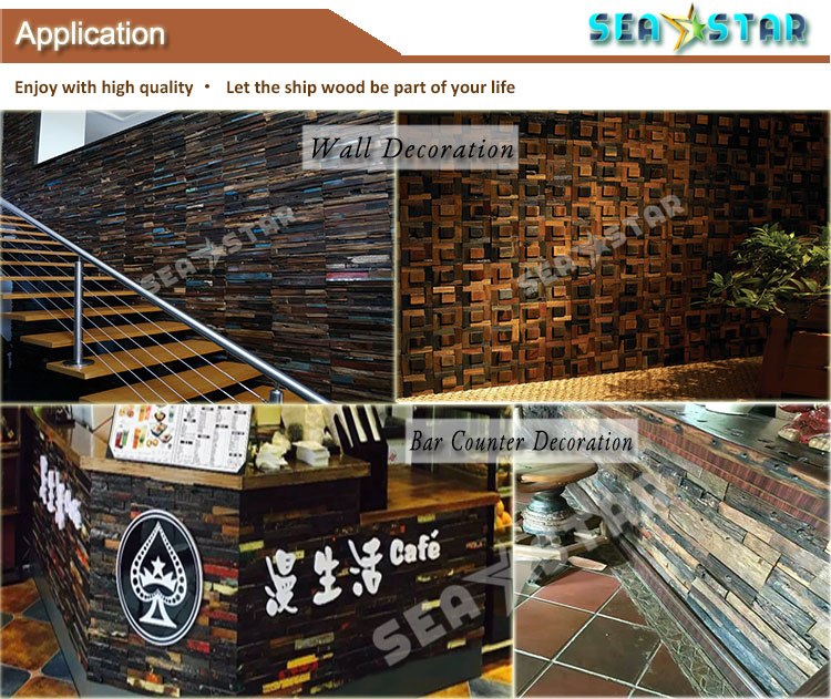 Preço de atacado painel de parede placa do sinal ao ar livre de madeira de madeira recuperada