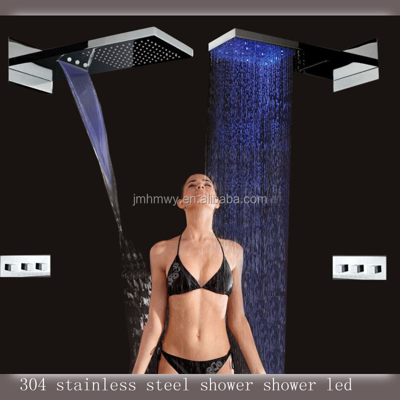 Shower Panel With Led Lights Rainfall,Waterfall Led Light Shower ...
