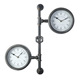 Round Metal industrial Decoration 12 time zone Wall Clock