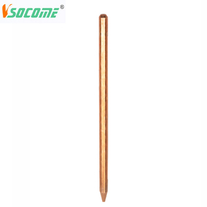 unthreaded copper plated steel grounding rod/copper bonded earth rod