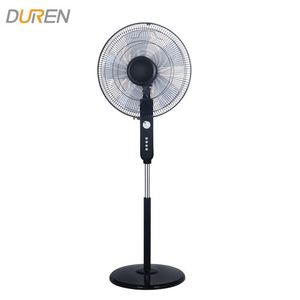 Factory manufacture 5AS blades 60 mins timer floor standing fans 60W 16inch 3 speed high speed stand fan price