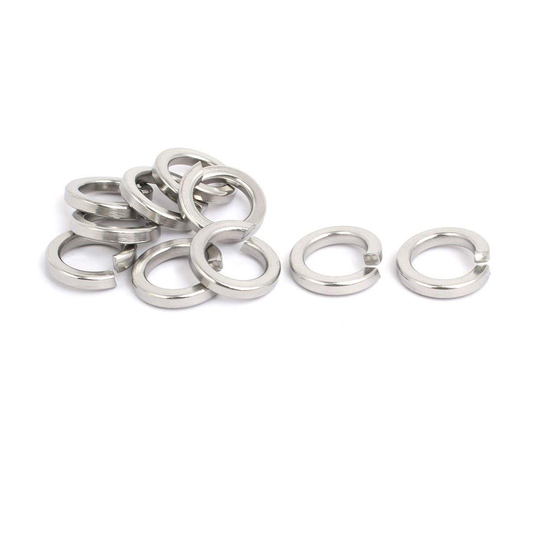 uxcell M14 Inner Diameter 304 Stainless Steel Split Lock Spring Washer Gasket 10pcs