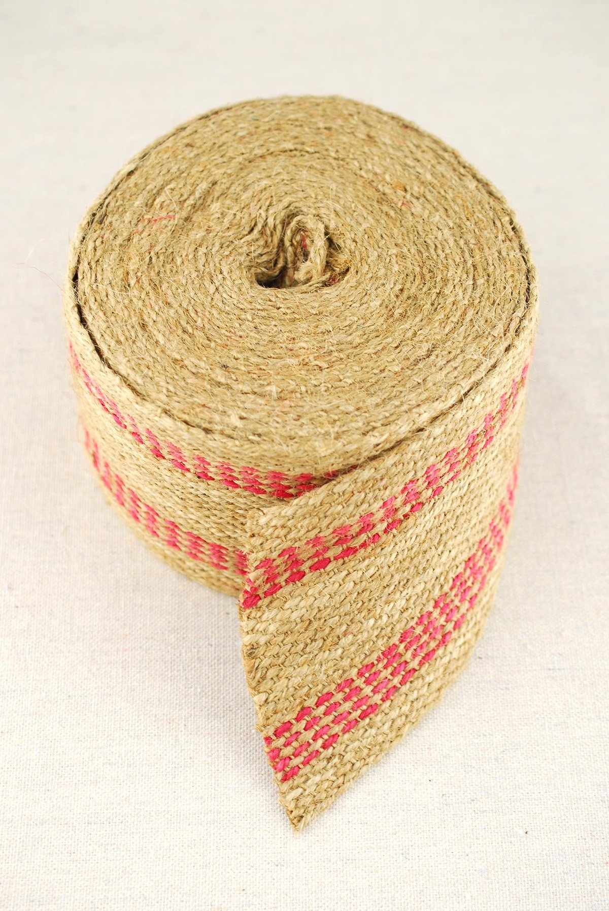 Red Upholstery Craft Jute Webbing 11 lbs 3.5 x 10Yd and 20 Yd Rolls 20 yd