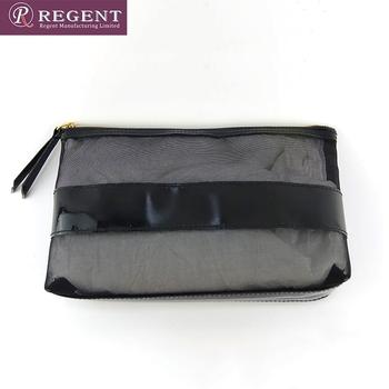 Promotional Black Mesh Travel Toiletry Bag