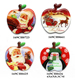 Epoxy Apple shaped Refrigerator Paste,Epoxy Square Fridge Magnet