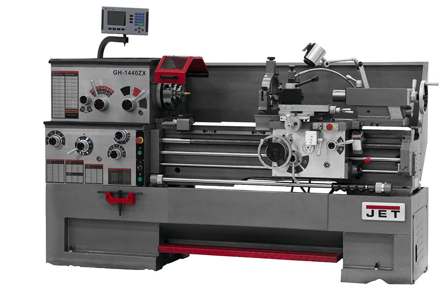 JET GH-1440ZX Lathe with 300S DRO and Taper Attachment