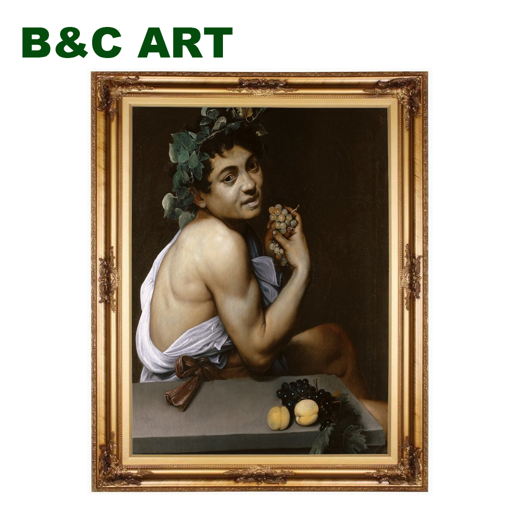 Reproduction classical Young Sick Bacchus Michelangelo Merisi da Caravaggio famous easy oil paintings with frame
