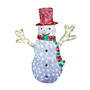 354f7c804f955 Christmas decoration acrylic figure 3D battery operated led christmas  snowman outdoor