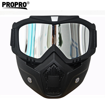 Motorcycle Glasses Motocross Motorbike Moto Goggles Detachable Goggle UV Protection Ski Bike for Halley Open Face Helmet Mask