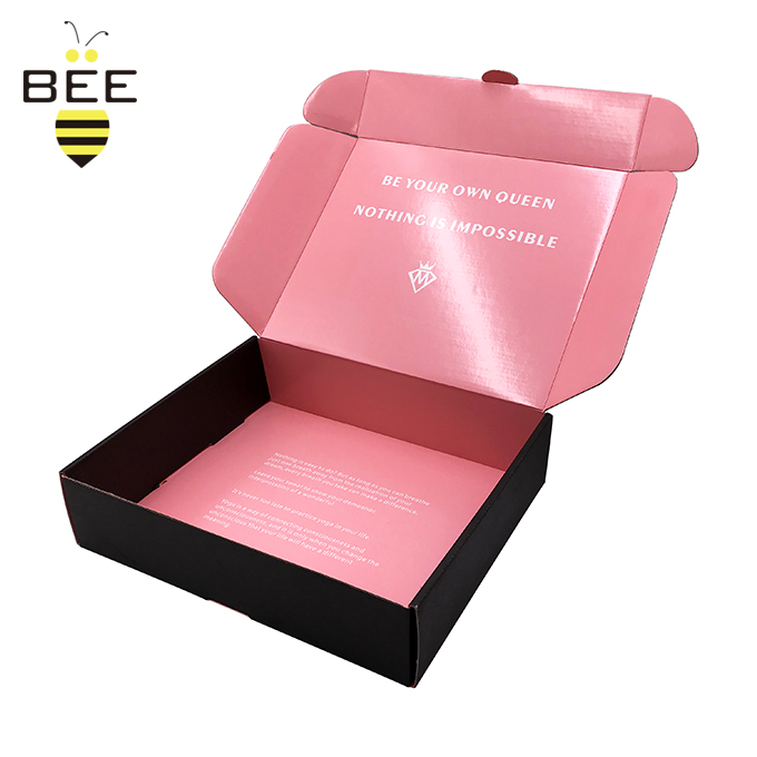 Amazon E Commerce Eco Friendly E-flute Corrugated Cardboard Box Custom Packaging Recycled Box Folding Mailer Shipping Box