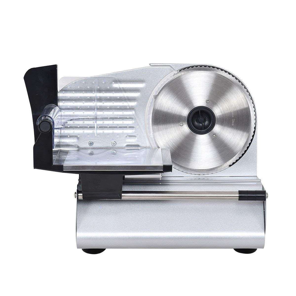 K&A Company Blade Electric Meat Slicer Cheese Deli Meat Food Cutter Kitchen Home Commercial Restaurant Home Machine Stainless Steel 7.5 Inch