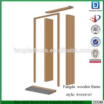 Fangda Fan Lite Glass Insert Exterior Glass DoorExterior Wood