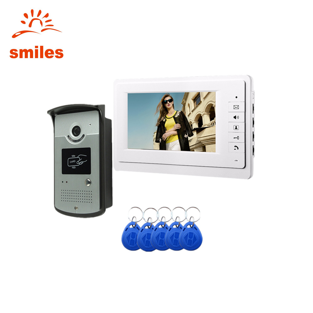 Wired Video Door Phone Intercom System,Video Doorbell Kits With RFID Card Reader Function