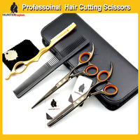 Professional Japan High Scissors Set Black Color 6'' Hairdressing Cutting&Thinning Shears Kit with Scissor Bag