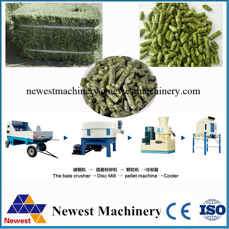 5t/h feed pellet equipment/vetiver grass pellet production line/sheep feed pellet press machine