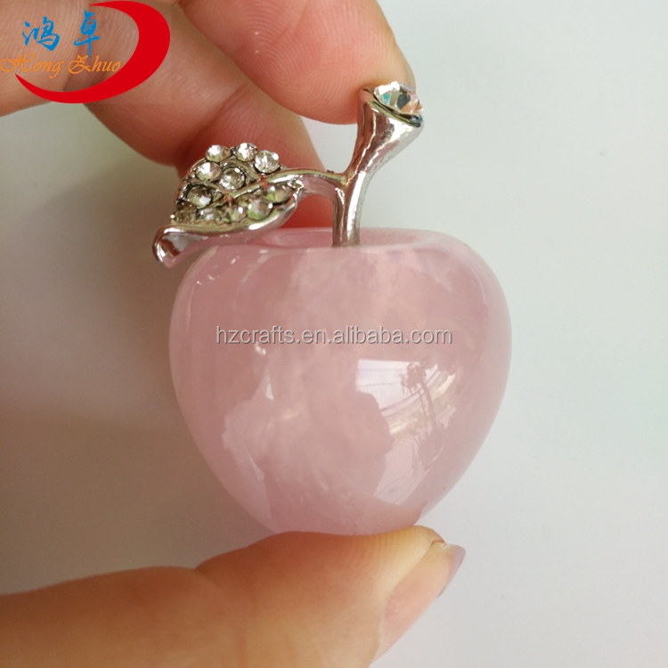 wedding favors wedding give away rose quartz apple gifts