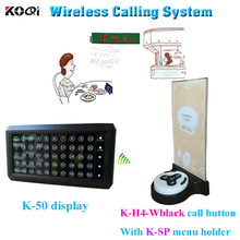 Factory Price Wireless Pager Calling System For Restaurant With Can Show 50 Group Number At The Same Time