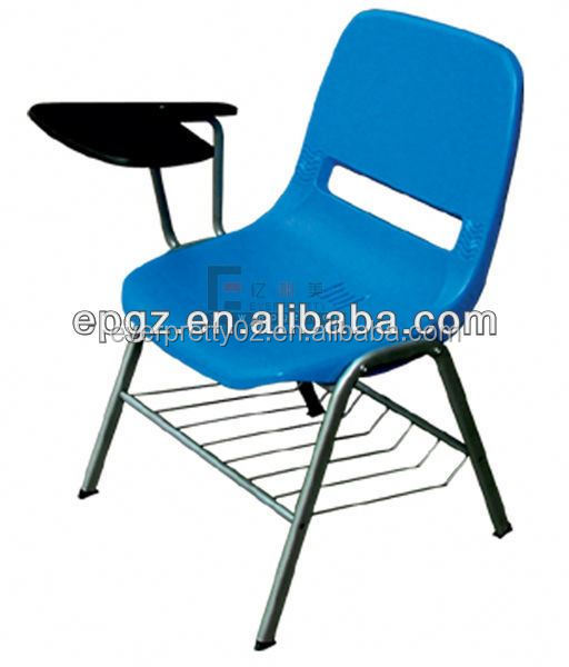 Plastic Writing Chairs With Tablet U0026amp; Book Basket,Blue Tablet Chair In  Classroom,