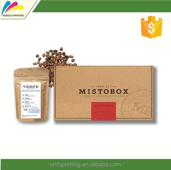 Custom Design Flexio Printed Brown Craft Paper Cardboard Packaging