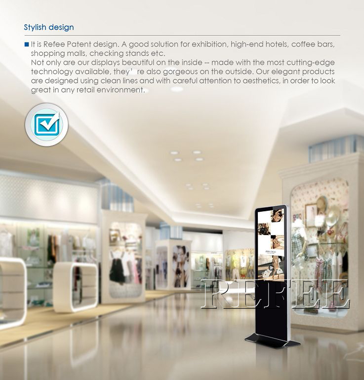 55 Inch Floor Stand Digital Signage Totem Lcd Advertising