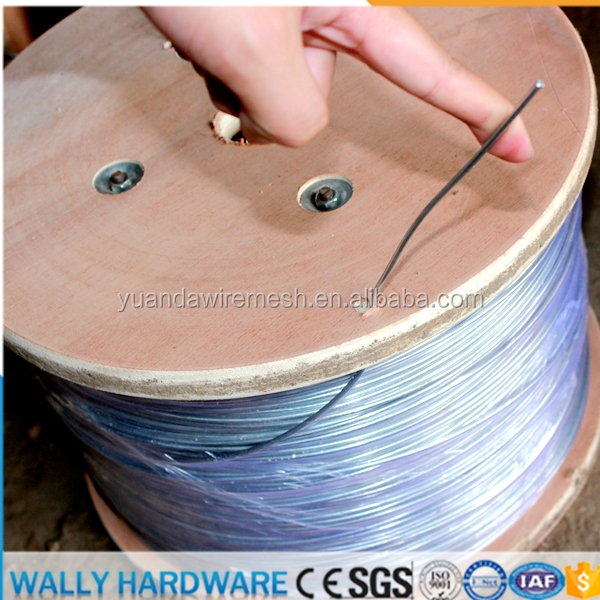Factory directly wholesale low price Electric Fence Galvanized Zinc Wire 3mm 50kg roll per ton price